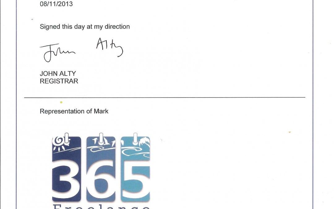 365 Freelance receives trademark registration certificate