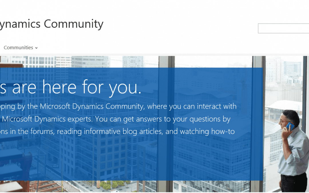 Say Hello to the new and improved Microsoft Dynamics Community site