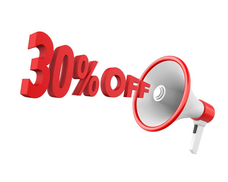 30% off membership fees this month
