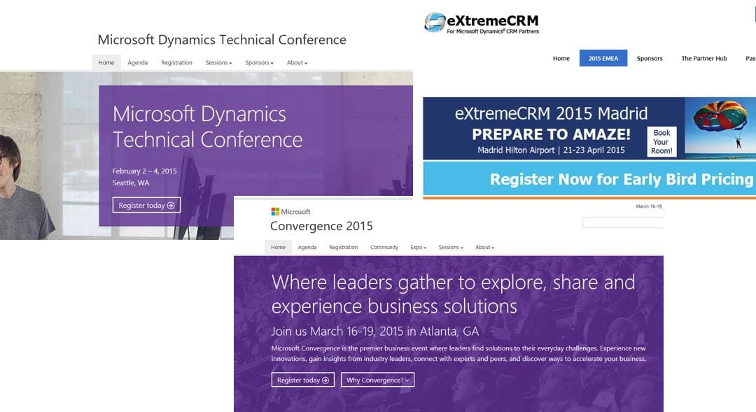 Key Dynamics events to attend in early 2015
