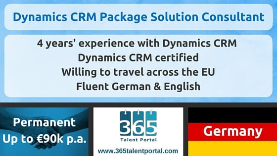Dynamics CRM Package Solution Consultant – Germany