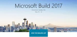 Microsoft events Build 2017
