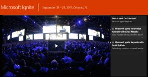 Microsoft events Ignite 2017