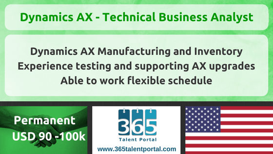 Microsoft Dynamics AX – Technical Business Analyst – USA