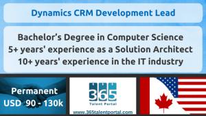 Dynamics CRM Development Lead