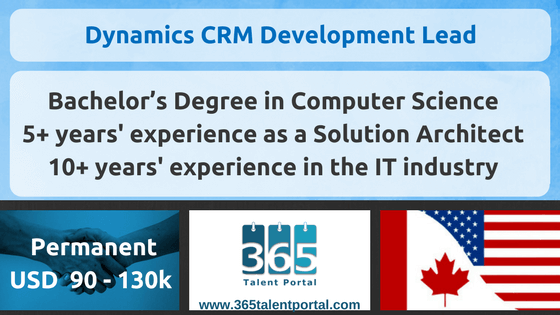 Microsoft Dynamics CRM Development Lead