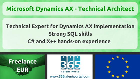 Freelance Microsoft Dynamics AX Technical Architect – Europe