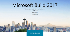 Microsoft Build 2017 videos
