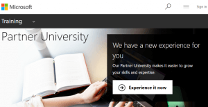 Partner University Microsoft Training
