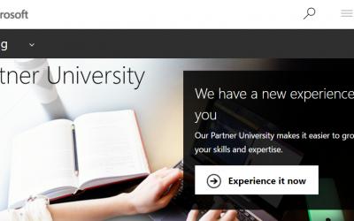 New Microsoft training website – Partner University
