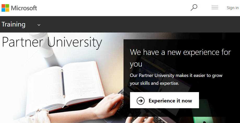 New Microsoft training website – Partner University