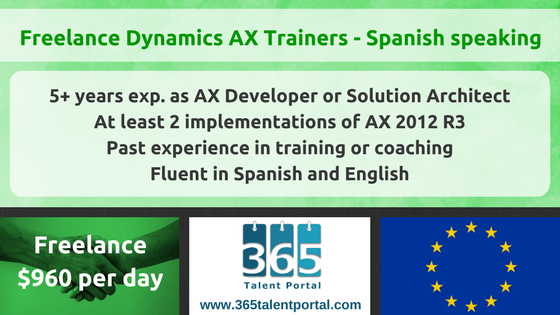 CLOSED – Freelance Dynamics AX Trainers – Spanish speaking