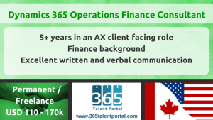 Dynamics AX Finance Consultant