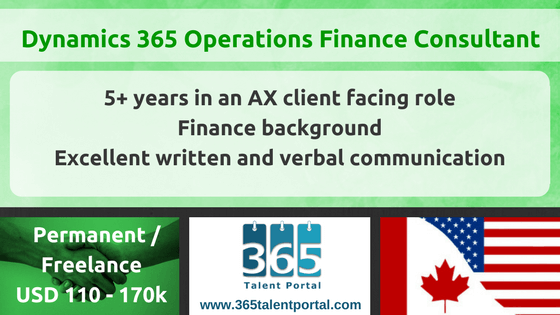 Microsoft Dynamics AX Finance Consultant