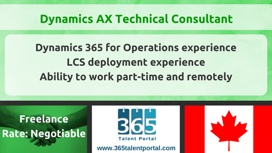 CLOSED – Dynamics AX Technical Consultant