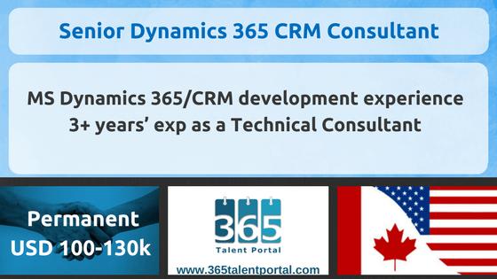 Senior Dynamics 365 CRM Consultant