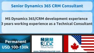 D365 Senior CRM Consultant