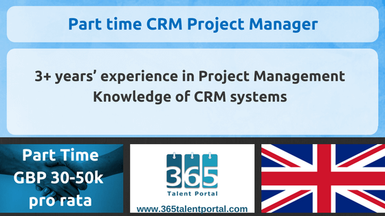 CLOSED – Part time CRM Project Manager