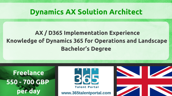 Microsoft Dynamics AX Solution Architect in London