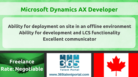 Microsoft Dynamics AX Developer in Canada