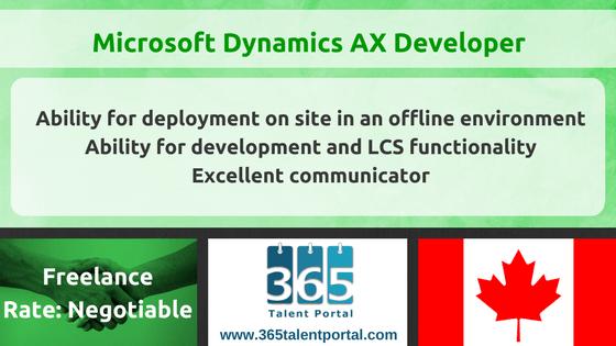 Microsoft Dynamics AX Developer in Canada