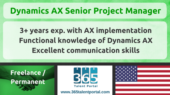 Senior Dynamics AX Project Manager USA
