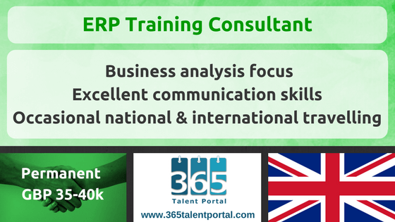Business Change ERP Training Consultant