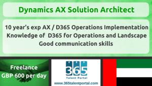 Freelance Dynamics AX Solution Architect