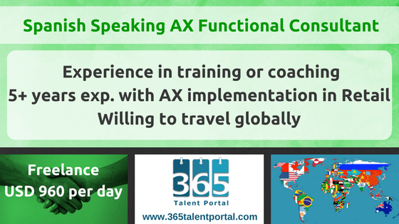 Spanish Speaking Dynamics AX Functional Consultant