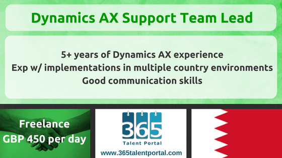 Freelance Dynamics AX Support Team Lead