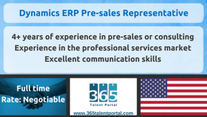 Dynamics ERP Pre-sales Representative