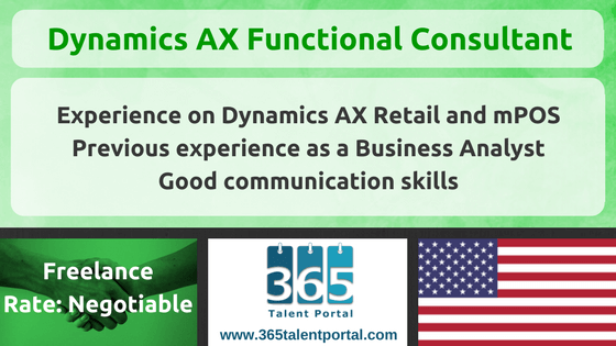 Microsoft Dynamics AX Functional Consultant USA
