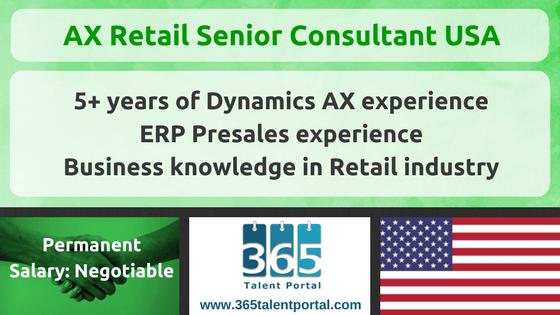 Microsoft Dynamics AX Retail Senior Consultant USA