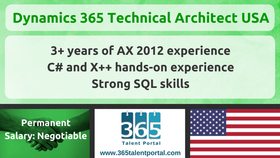 Microsoft Dynamics 365 Technical Architect USA