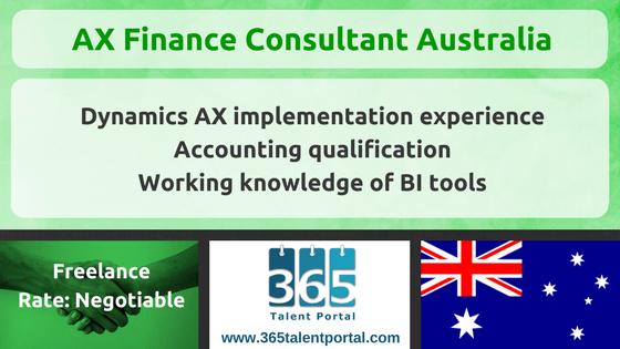 Microsoft Dynamics AX Finance Consultant Australia