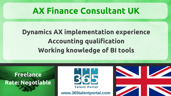 Microsoft Dynamics AX Finance Consultant UK