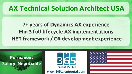 AX Technical Solution Architect USA