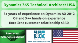 Dynamics 365 Technical Architect USA