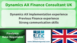 Dynamics AX Finance Consultant UK
