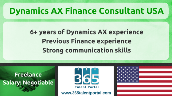 Dynamics AX Finance Consultant USA