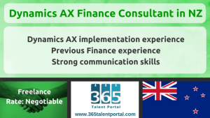 Dynamics AX Finance Consultant in NZ