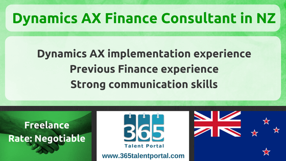 Dynamics AX Finance Consultant in New Zealand