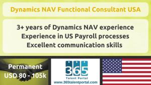 Dynamics NAV Functional Consultant USA