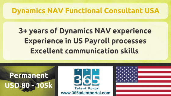 Dynamics NAV Functional Consultant USA
