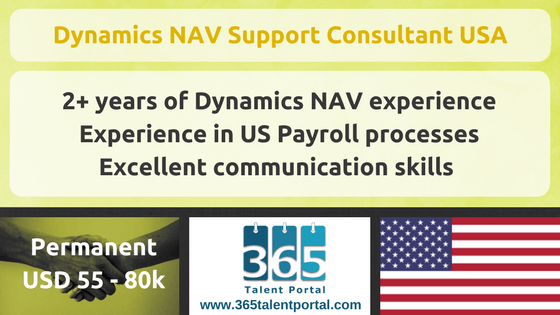 Dynamics NAV Support Consultant USA