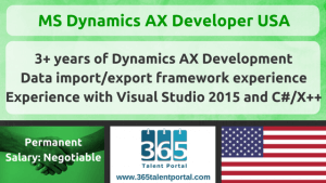 MS Dynamics AX Developer USA