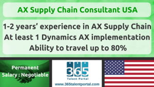 AX Supply Chain Consultant USA