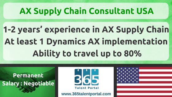 Dynamics AX Supply Chain Consultant USA