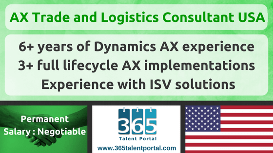Microsoft Dynamics AX Trade and Logistics Consultant USA
