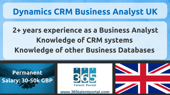 Microsoft Dynamics CRM Business Analyst UK
